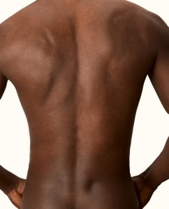 Black man back