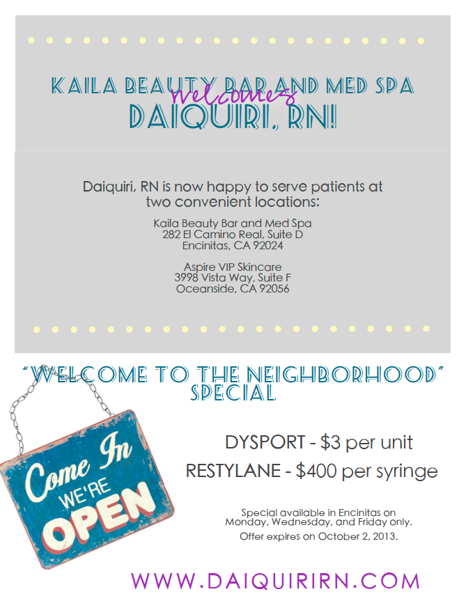 Welcome Beauty Specials